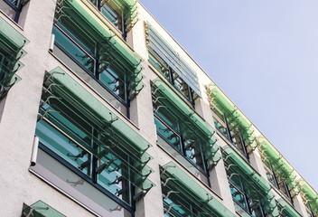 Gebäude Fensterfront