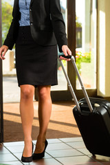 Businesswoman arriving at Hotel
