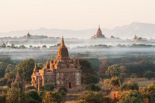Sunrise at Bagan in Myanmar
