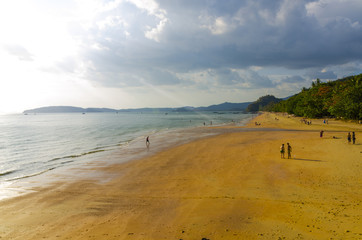 The beach and the sea coast in the province of Krabi. Thailand