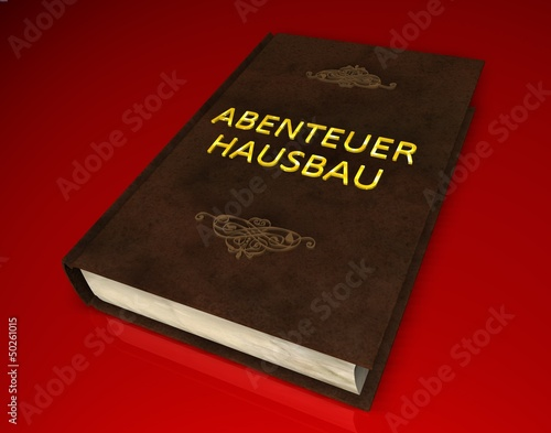 3d buch ii abenteuer hausbau stockfotos und. Black Bedroom Furniture Sets. Home Design Ideas