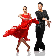 Beautiful Latino dancers in action