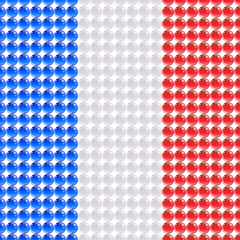 Flag of the France made of leds or bubbles.