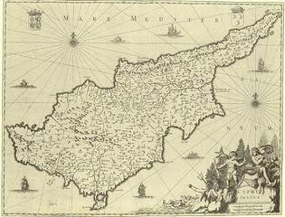 Wall Mural - Cyprus old map