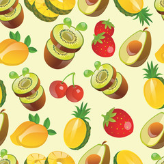 fruit pattern seamless vector