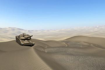 Foto op Canvas Militair Wüsten Panzer