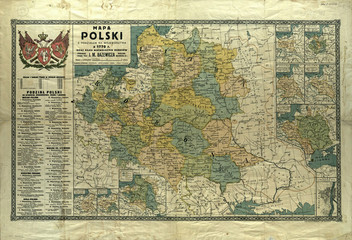 Poland old map 1770