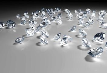 some diamonds on the floor