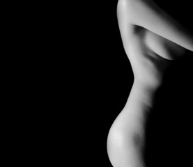 Classic Black and White Art of Woman's body