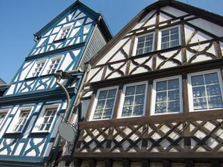 Fachwerkhäuser in Eltville, Hessen,Deutschland