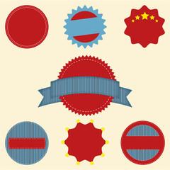 Set of blank retro vintage badge icons for logo, labels, packagi