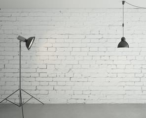 spotlight and lamp