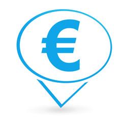 euro sur signet bleu