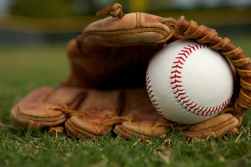 New Baseball in a Glove