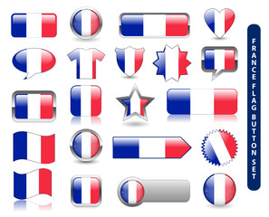 FRENCH FLAG ICON SET (france jersey soccer football icons stamp)