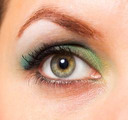 Woman's green eye