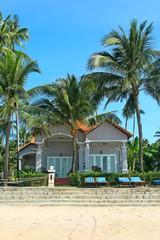 Houses in tropical resort