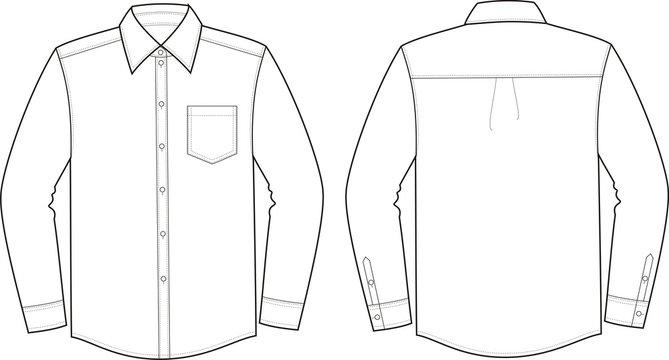 Vector illustration of men's business shirt
