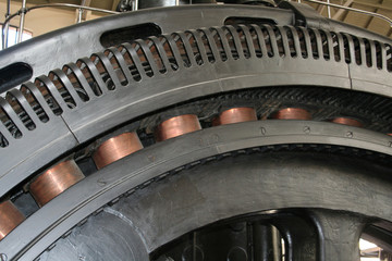 Rueda Museo Metro Madrid.Nave Motores Fototapete