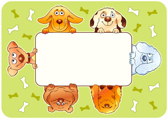 Funny dogs frame