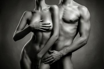 Nude sensual couple - fototapety na wymiar