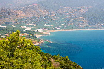 Turquoise coast of Turkey near Alanya