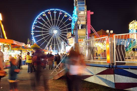 Ferris wheel in a summer night