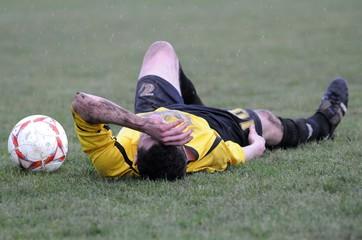 blessure du joueur au football