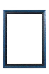 Blue wooden picture frame