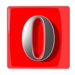 Number zero icon