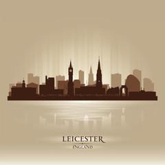 Leicester England skyline city silhouette