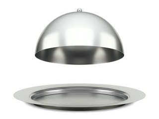 dining silver cloche platter