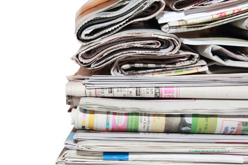 isolated heap of newspaper