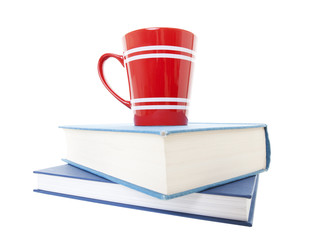Text Books and Coffee Mug