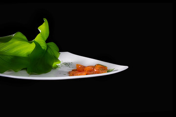 Cherry Tomatoes Salad. Creative Cuisine