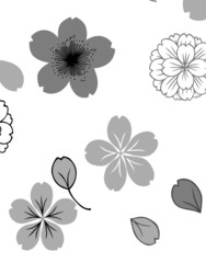 花模様のパターン