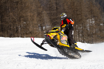 Fototapete - skidoo in action