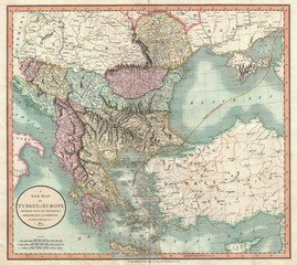 Greece old map