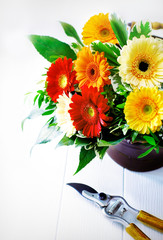 Colourful gerbera flower arrangement