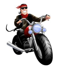 Printed roller blinds Motorcycle bikers