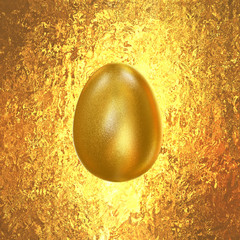 Golden Easter Egg on a gold background