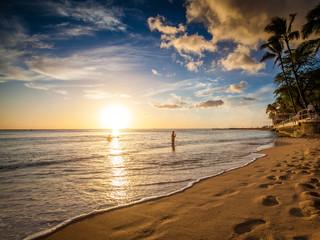 Sonnenuntergang @ Waikiki Beach, Hawai'i