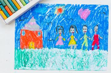 Kid drawing