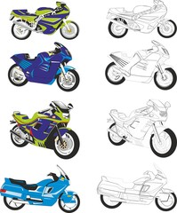 speed sports motorcycle