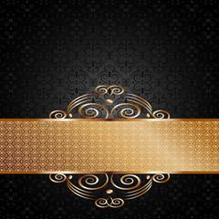 Eleganckie czarnozłote tło