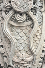 Closed up texture on stutue in wat pho