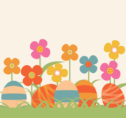 background with painted flowers Easter_1