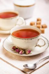 Tea in vintage cup
