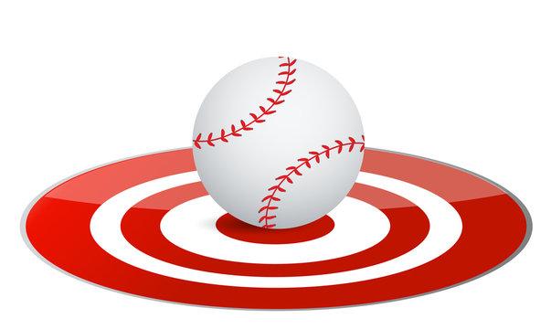 Baseball ball target concept
