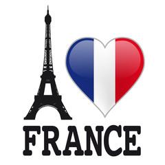 In de dag Doodle I LOVE FRANCE